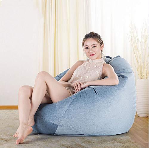 Lovehouge divano pigro, tessuto goffrato, divano singolo per poltrona da esterno per esterni divano pigro (una varietà di colori opzionali),d,100x120cm