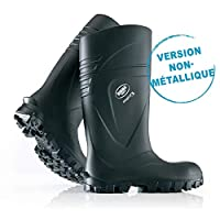 Robust Safety Boot for Men, high Safety Steel Cap, Ergonomic Footbed, Very Lightweight, for Industry, Road Construction & Bearings, Non-Slip, Comfortable, Resistant to Oil & Grease, Black, Size 10