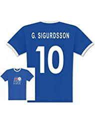 World of Football Player T-Shirt Island Sigurdsson 10 - 140