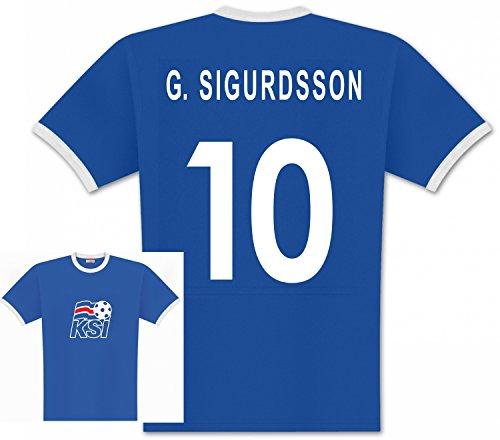 World of Football Player T-Shirt Island Sigurdsson 10 - 140