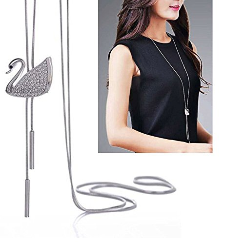 Shining Diva Fashion Jewelry Stylish Pendants for Girls with Long Chain Pendent Party Western Wear Necklace for Women & Girls(Silver)(9263np)