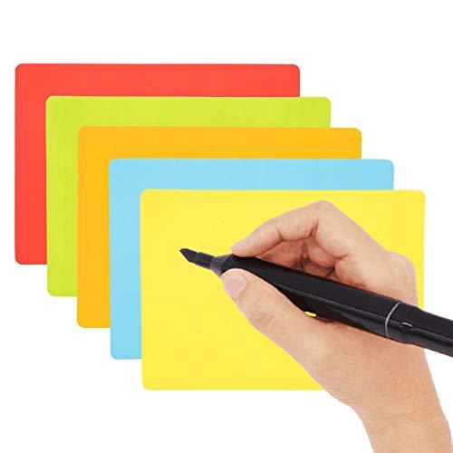 25 Scrum Magnete Wiederbeschreibbar 15 x 10 cm für Agile, Scrum, Kanban oder Lean. (Mix (5 Farben))