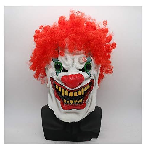 C αγάπη Ζ Halloween Maske Beängstigend Böse Clown Maske, Doppelte Gesicht Latex Gummi Maske Halloween Kostüm Maske