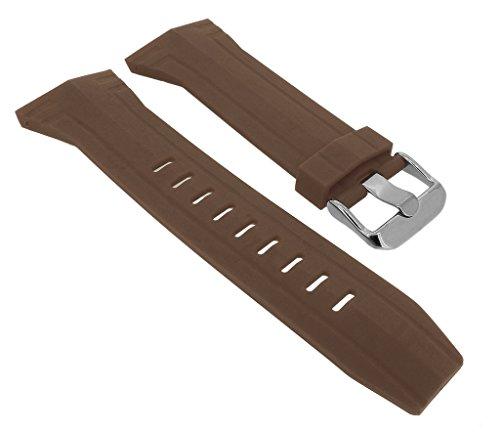 Bruno Banani BR21086 Ersatzband Uhrenarmband Kunststoff Band braun für Prisma CW3 205 405