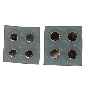 Timorn Links/rechts LR D-Pad ABXY Button Metall Sticker Set (Keine Knöpfe) Conductive Film für 3DS / 3DS XL/LL (10 Sätze…