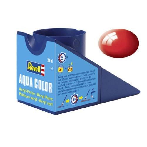 Revell Aqua Color 36131 - Revell - Aqua Color feuerrot, glänzend - RAL 3000, 18 ml -