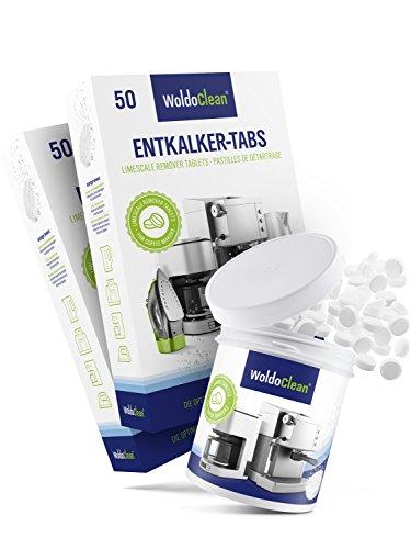 WoldoClean I 50x Entkalker-Tabletten I 260x Reinigungstabletten für Kaffeevollautomaten I...
