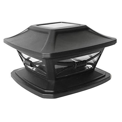Poste de luces LED solares, con interruptores automáticos, resistente al agua, cuadrado,...