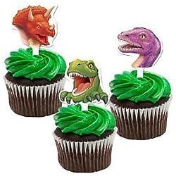 Dinosaur Toppers torta de la taza (paquete de 12)