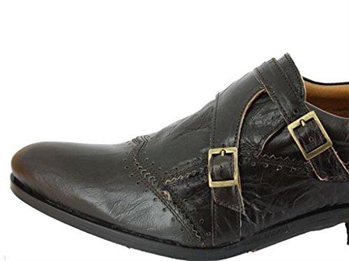 amphibious - chaussures homme en cuir marron homme amphibious f34amphib015 Marron