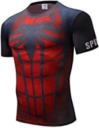 4664d68f2 INCLUDS Raglan Sleeve Spiderman 3D Printed T Shirts Men Compression Shirts  2018 Summer Cosplay Costume Tops