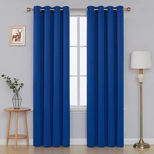 Deconovo tende oscuranti termiche isolanti tende oscuranti con occhielli per finestre soggiorno interni 140x290 cm blu elettrico 2 pannelli