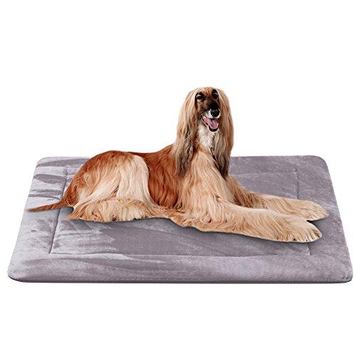 Hero Dog Letto Materasso Cane Taglia Grande Lavabile 120 x 85 cm Tappeto Cuscino Antiscivolo Materassino Imbottitura Morbido per Animali (Grigio, XL)