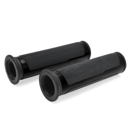 7/8 '' 22mm Universal Motorrad Lenkergriffe Lenkstange Aluminium Rubber für Yamaha Honda schwarz