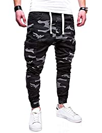 Pantalones Casual de Camuflaje para Hombre Jogging Casual Pantalón  Pantalones Casuales para Hombre Chándal Casuales Pantalones d818bf955ff3