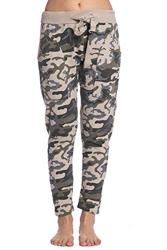 Abbino 3378-9 Jogging Pantaloni Donne Ragazze – Made in Italy – 3 Colori – Mezza Stagione Primavera Estate Autunno Pants Fitness Sport Ginnastica Tute Palestra Running Corsa Slim Fit Casual