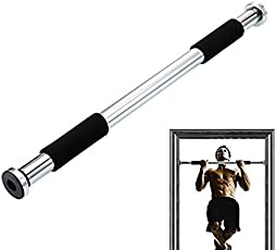 Inditradition Exercise Bar, Pull up Door Bar, Cushioned Grip, Steel