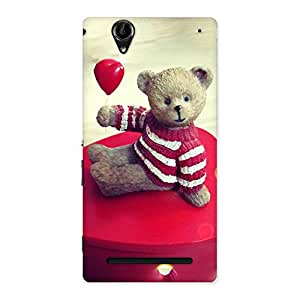 Stylish Red Heart Teddy Back Case Cover for Sony Xperia T2