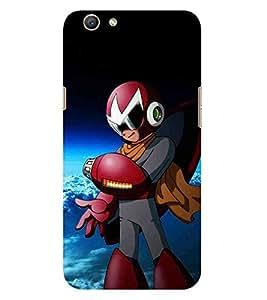 HiFi Designer Phone Back Case Cover Oppo F1s :: Oppo A59 :: Oppo F1s Selfie Expert ( Gameboy Action hero )
