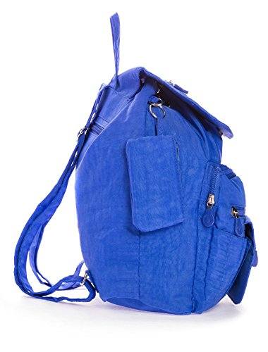 Big Handbag Shop Unisex leichter Rucksack Kunststoff dunkelgrau