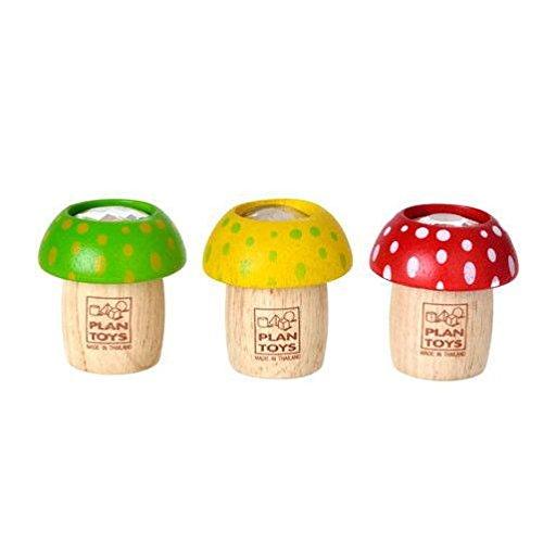 Plan Toys PLTO-4317 - Holzspielzeug - Mushroom Kaleidoskop, Minifigure, farblich sortiert, 1 Stück