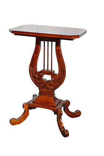 Tavolino lira in legno massello di mogano