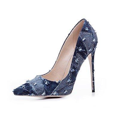 Rtry Femme Chaussures À Talons Formelles Spring Denim Fall Office & Amp; Partie De Carrière Et Ampère; Talon Stiletto Bleu Clair Bleu Marine 4a-4 3 / 4en Us4-4.5 / Eu34 / Uk2-2.5 / Cn33