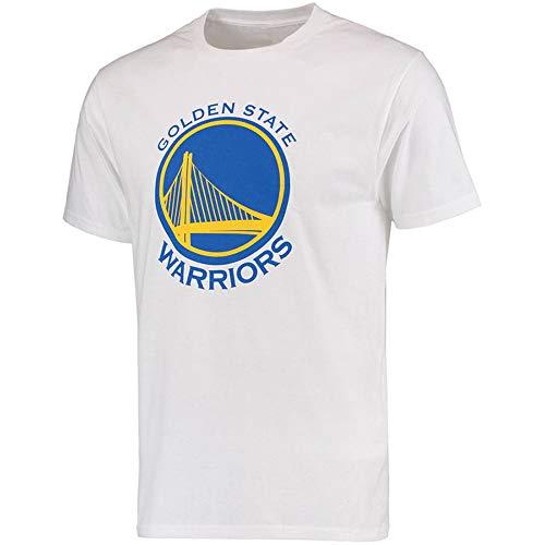 Herren T-Shirt NBA Golden State Warriors Stephen Curry Durant Jersey Rundhalsausschnitt-Breathable Basketball Bekleidung für die Jugend Top Bequeme Sport-T-Shirt White-M - Die Jugend Weiß Basketball T-shirt