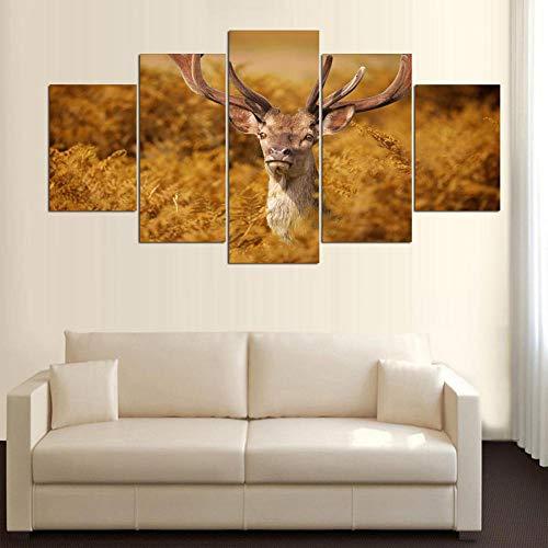 Quadri modulari HD Stampa Immagini House Tree Wall Art UFO Dipinti Paesaggio Home Decoration Poster for Living Room Framework 3 40x60 40x80 40x100cm