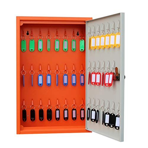 Armoires à clés Boîte de Gestion des clés de Voiture 24 Boîte de Gestion des clés Boîte de clé intermédiaire 48 Bits (Color : Orange, Size : 30 * 10 * 46cm)
