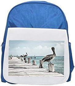 Pelican, Water Bird printed kid's Bleu    backpack, Cute backpacks, cute small backpacks, cute Noir  backpack, cool Noir  backpack, fashion backpacks, large fashion backpacks, Noir  fashion backpack | De Première Qualité  42733d