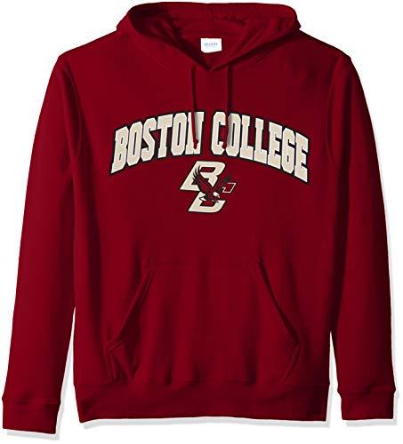eLITe NCAA Boston College Eagles Male NCAA Hoodie Sweatshirt Team Color Arch, Garnet, XX Large College Hoodie Sweatshirt