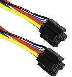Aerzetix - 2 fasci di cavi con spina per relè auto 4/5-pin, 12V/24 V .
