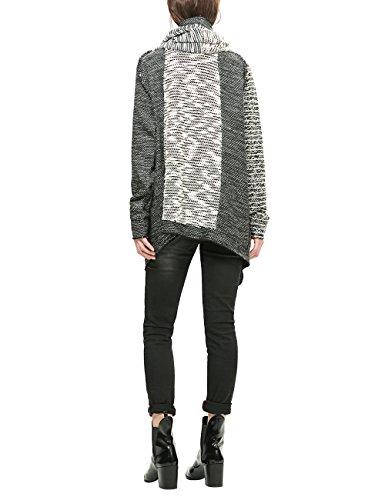Desigual Damen Sweatshirt Sweat_lanzarote Grau (GRIS VIGORE OSCURO 2043)