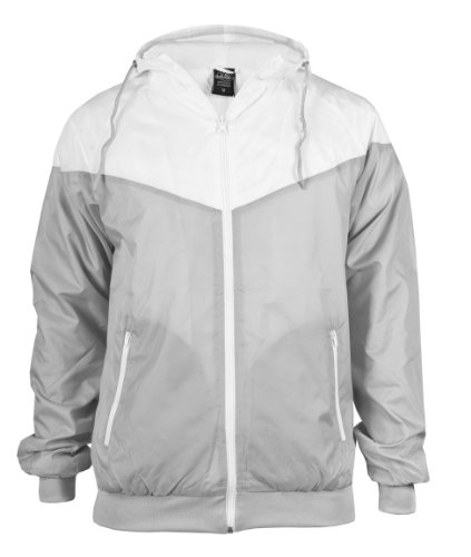 Urban Classics Arrow Windrunner TB148 Grey/White
