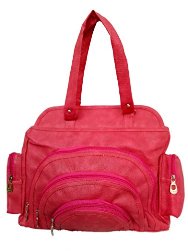 Jovial Premium multi pocket fancy Pink Ladies Handbag-JBH105  available at amazon for Rs.275