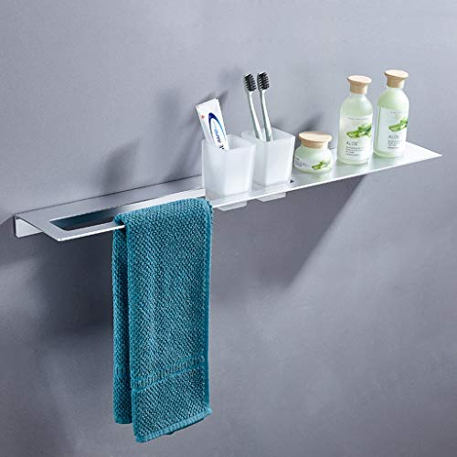Jingtaohailang Hochwertige Raum Aluminium-Zahnbürste, Zahn-Cup Holder, Badezimmer-Regal, Wandbehang mit Handtuchhalter (Color : A) - Holder Cup Zahn