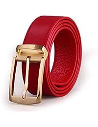 Yingsssq Cinturones Casuales de Cuero para Hombres con Hebilla (Color   B 174639cb3596