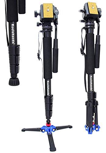 Koolehaoda Professional Camera alluminio monopiede fluido testina video con (tre
