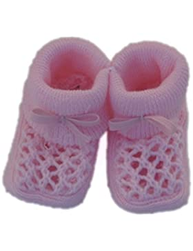 Baby Schuehchen in Strickoptik rosa