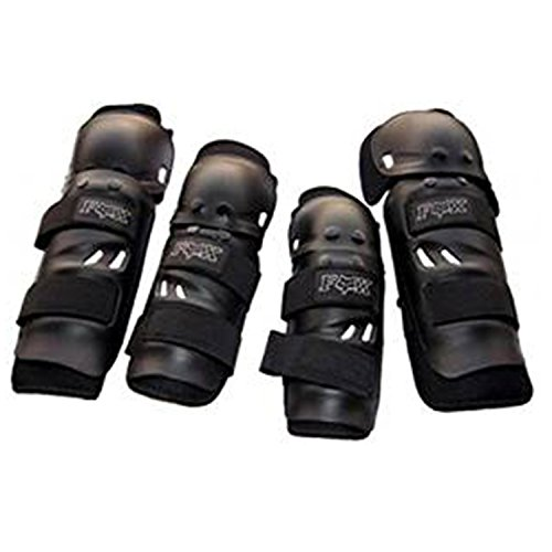 Uttu Fox Bike Racing Knee Elbow Guard Set Of 4  available at amazon for Rs.350