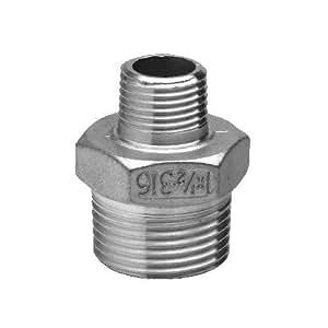 Edelstahl Reduziernippel Nr. 245, Werkstoffqualität 316 d 3/4x3/8 Zoll