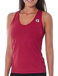 a40grados Sport & Style Cielo Blood - Camiseta para mujer, color granate, talla 40