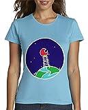 Best Cielo - Escaleras azules - latostadora - Camiseta Escalera-Luna-roja para Mujer Azul Cielo Review
