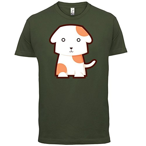 Cute Dog - Herren T-Shirt - 13 Farben Olivgrün