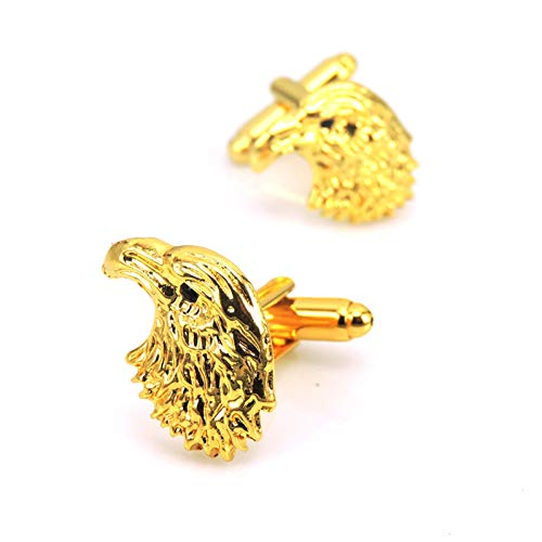 SHKLFSS Herrenbekleidung Schmuck Manschettenknöpfe goldenen Vogel Manschettenknöpfe