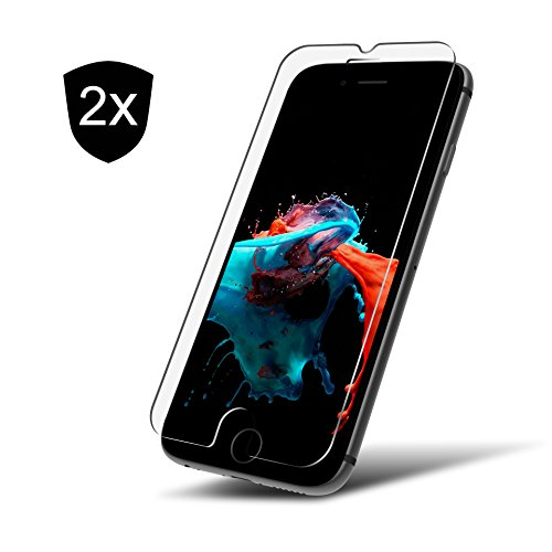 2x iPhone 6 Plus / 6s Plus Panzerglas Schutzfolie 9H ** Kein Zerkratzen ** Blasenfreies Anbringen ** Perfekte Passgenauigkeit ** Glas-Folie by UTECTION - 6 Protector Iphone Screen Set