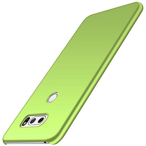 anccer LG V30 Hülle, [Serie Matte] Elastische Schockabsorption und Ultra Thin Design für LG V30/LG V30 Plus/LG V30S ThinQ/LG V35/LG V35 ThinQ (Glattes Grasgrün)