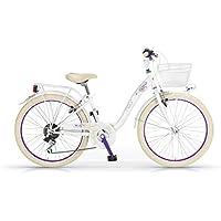 "Bicicleta MBM Fleur 26 ""Mujeres 6S marco de acero - incluyendo basket (White)"