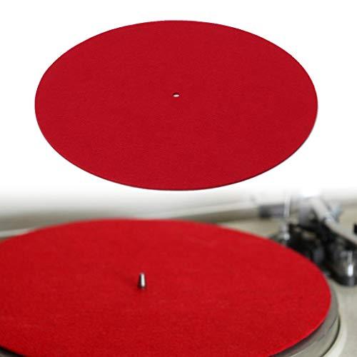 Weishazi Plattenspieler-Matte für Audiophile 3 mm Filzplatte, Vinyl-Platte, Anti-Vibration, langlebig, antistatisch - Plattenspieler-matte Leder